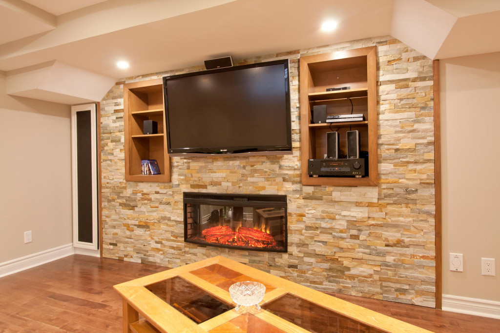 Fireplace + Wall